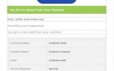 Email style and template for Contact Form 7